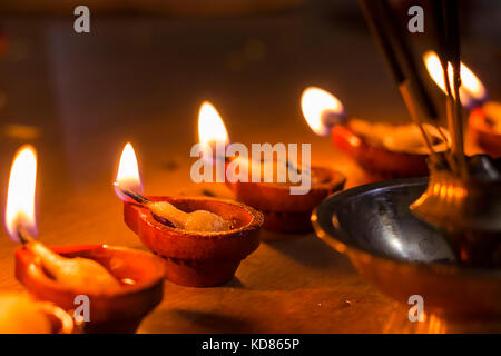 Indian Diwali Festival Candles Nobody Stock Photo 85150657 Alamy
