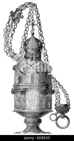 The thurible of the L'abbazia di Montecassino, Italy - Stock Photo