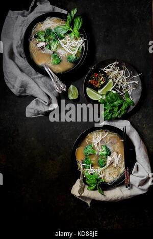 Pho - Noodle Soup - Stock Photo