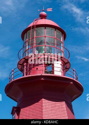 Lighthouse, Phare de la Martre, La Martre, Gaspe, Quebec, Canada. - Stock Photo