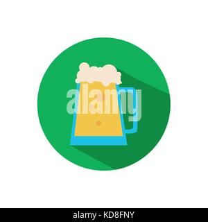 Simple Beer Pitcher Flat Icon - Stock Photo
