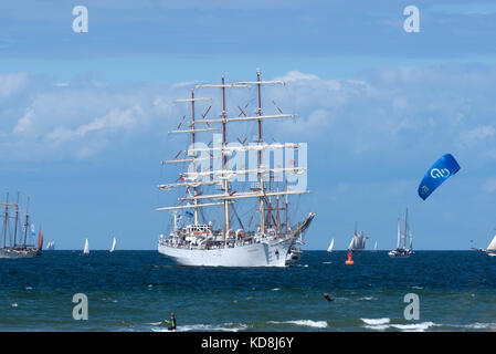 Hanse Sail 2017, Warnemünde, Rostock, Mecklenburg-Western Pomerania, Germany - Stock Photo