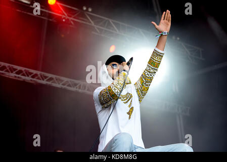 BARCELONA - JUN 3: Swet Shop Boys (Indian Pakistani hip hop group, consisting of rappers Heems and Riz MC) perform - Stock Photo