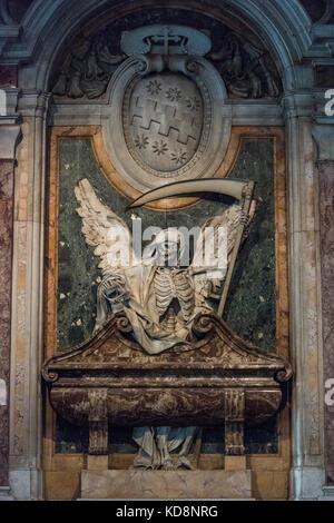 Rome. Italy. Tomb of Cardinal Cinzio Aldobrandini (1551-1610) by Carlo Bizzaccheri (1656-1721), Basilica di San - Stock Photo