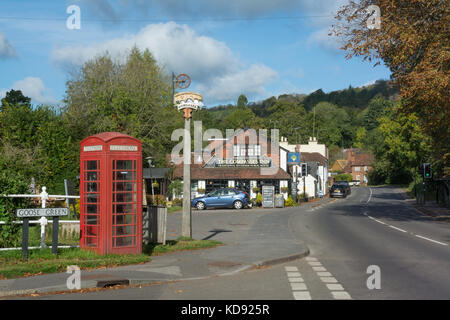 The pretty village of Gomshall in the Surrey Hills AONB, UK - Stock Photo