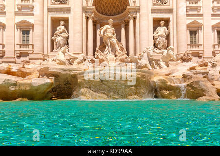 Trevi Fountain or Fontana di Trevi in Rome, Italy - Stock Photo