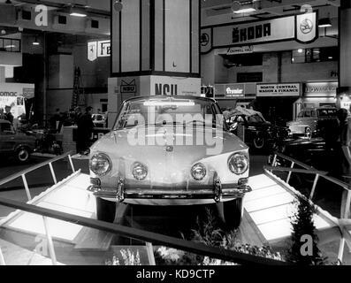 VW type 34 launch at 1961 Frankfurt motor show - Stock Photo