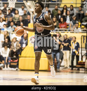 Turin, Italy 7th october 2017. Lamar Patterson during the Serie A Basketball match Fiat Torino Auxilium vs Dinamo - Stock Photo