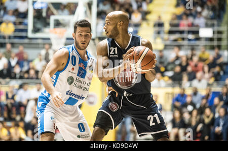 Andre Jones during the  Serie A an Basketball match Fiat Torino Auxilium vs Dinamo Sassari at PalaRuffini. Torino - Stock Photo