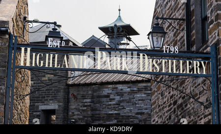 Highland Park Distillery, Kirkwall, Orkney, Scotland, UK - Stock Photo