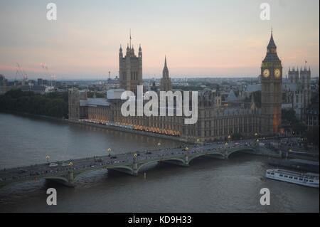 Aerial views of London - Stock Photo