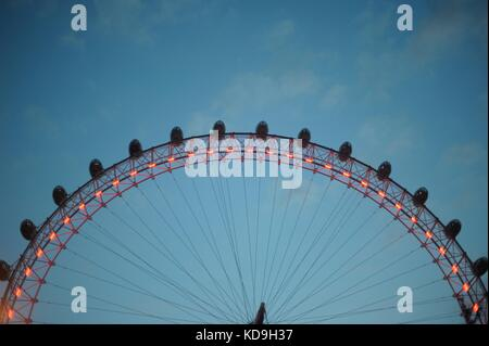 The London and and views from the London Eye - Stock Photo