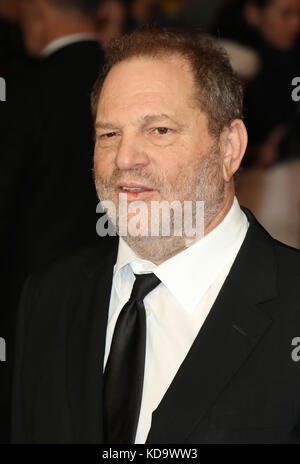 Harvey Weinstein, Burnt - European film premiere, Leicester Square, London UK, 28 October 2015, Photo by Richard - Stock Photo