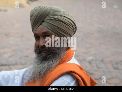 Shankar, Panjab, India. 12 October 2017.  Sikh wedding celebrations in rural indian village. Trumpets and drums - Stock Photo
