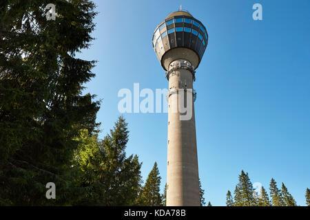 Kuopio viewpoint tower. Finland cityscape landmark. Travel background. Horizontal - Stock Photo