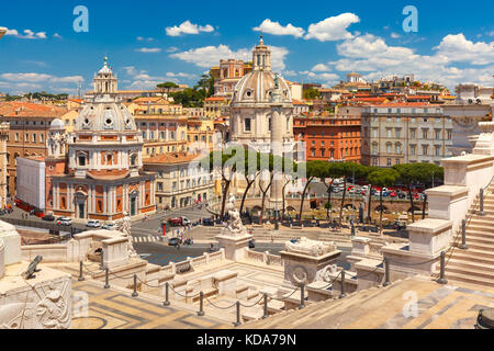 Ancient Trajan Forum in Rome, Italy - Stock Photo
