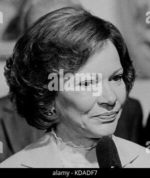 first lady, Rosalynn Carter, speaking in San Francisco, California - Stock Photo