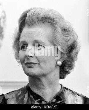 British Prime Minister Margaret Thatcher at the White House in Washington, D.C. on September 13, 1977. - Stock Photo