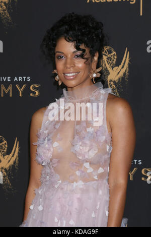 69th Primetime Creative Arts Emmy Awards held at the Microsoft Theatre - Day 1 - Arrivals  Featuring: Susan Kelechi - Stock Photo