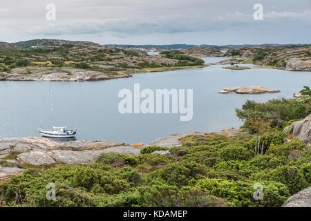 coastline in sweden above fjallbacka - Stock Photo
