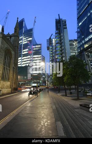 London sky scrapers, city of london - Stock Photo