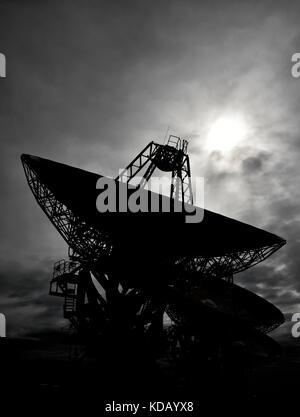 radio telescope dishes at Narrabri in new south wales, Australia. the Australian telescope compact array - Stock Photo