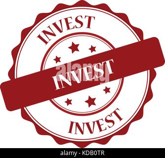 Invest red stamp illustration - Stock Photo
