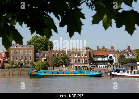 The Dove pub on the River Thames at Hammersmith, London, UK - Stock Photo