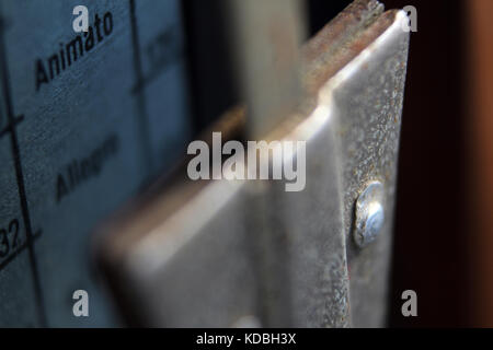 Old metronome close-up - Stock Photo