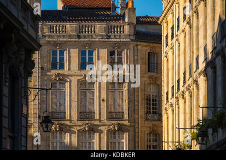 Neoclassical architecture, building at historic center, Bordeaux. Aquitaine Region, Gironde Department. France Europe - Stock Photo