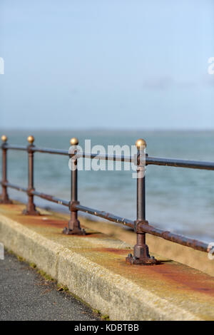 Some cast iron railings on the sea front at cowes on the Isle of Wight , uk - Stock Photo