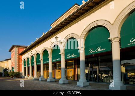 bulgari shop designer outlet serravalle scrivia alessandria province italy stock photo