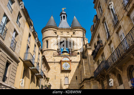 Grosse Cloche bell tower former St Eloi town gate, Bordeaux. Aquitaine Region, Gironde Department. France Europe - Stock Photo