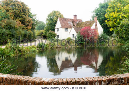 Willy Lott's Cottage, Flatford Mill, Suffolk - Stock Photo
