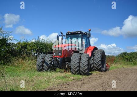 Massey Ferguson 6480 farm tractor - Stock Photo