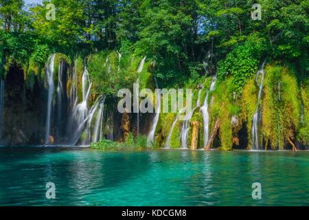 Plitvice lakes, National park, Croatia - Stock Photo