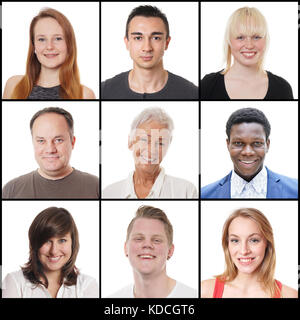 multi-ethnic women and men ranging from 18 to 65 years - Stock Photo