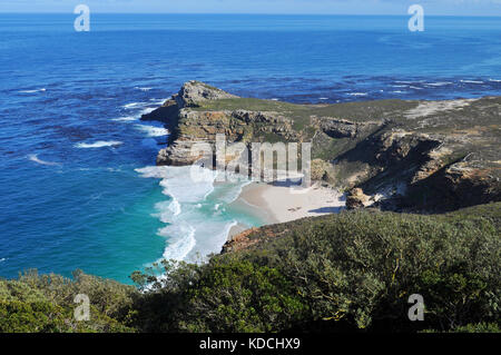 Diaz Beach from Cape Point, The Cape of Good Hope, South Africa - Stock Photo