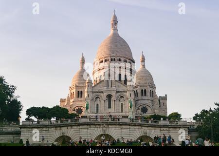 Paris, France. September 9, 2017. Sacre-Coeur Basilica, Paris - Stock Photo