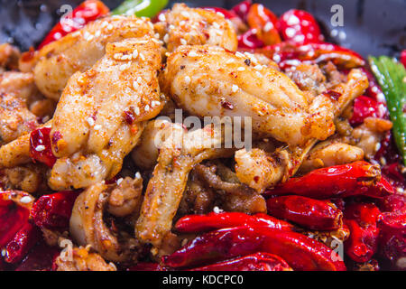fried chicken with chili - Stock Photo