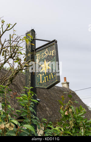The Star Inn at Harome, an award winning gastropub with rooms, located in a 14th century building; Yorkshire, UK - Stock Photo