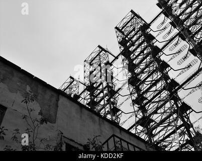 Soviet radio station Chernobyl zone Ukraine - Stock Photo