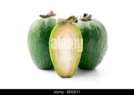 Feijoa on a white background - Stock Photo