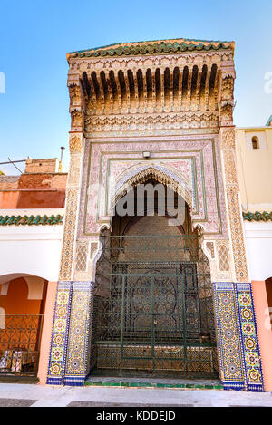 Zawiya Sidi Bel Abbes mosque in Marrakesh, Morocco - Stock Photo