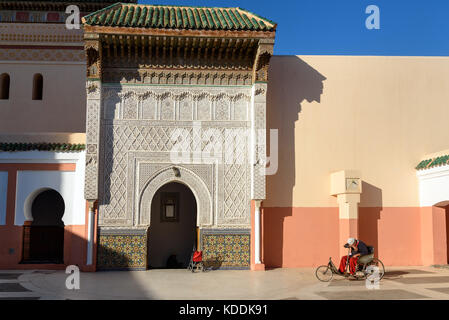 Marrakech, Morocco - December 28, 2017: Zawiya Sidi Bel Abbes mosque in Marrakesh, Morocco - Stock Photo