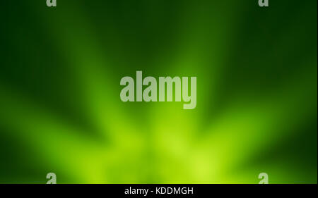 blur spotlight effect on green background free place - Stock Photo