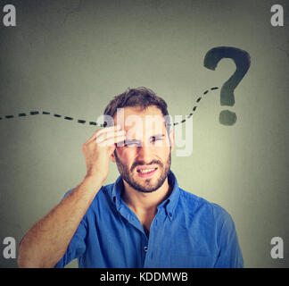 man thinking looking for a solution - Stock Photo