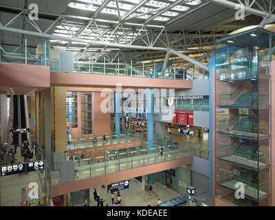 View of the interior of Kansai KIX airport in Osaka Japan - Stock Photo