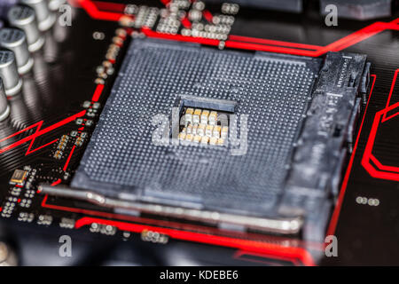 computer base plate for the central processing unit - Stock Photo