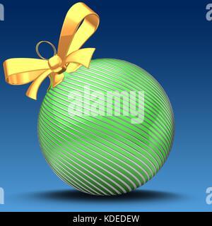 3d illustration of Christmas ball - Stock Photo